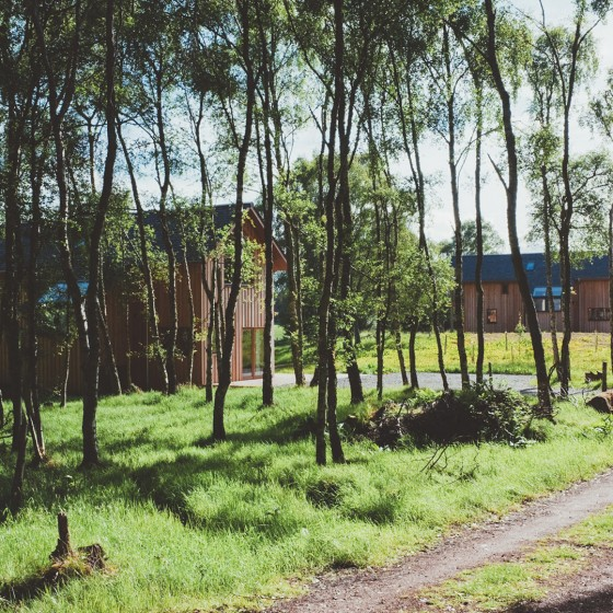 Our two luxury 5 star eco lodges near Inverness, Scotland
