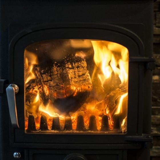 Woodburning Stove, luxury lodge Highlands