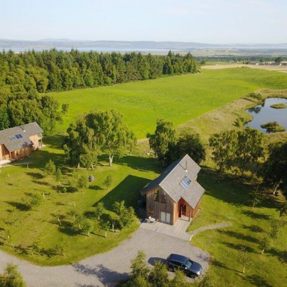 Our luxury lodges from above