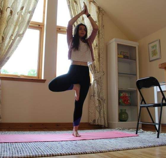 Yoga in our Relax Room
