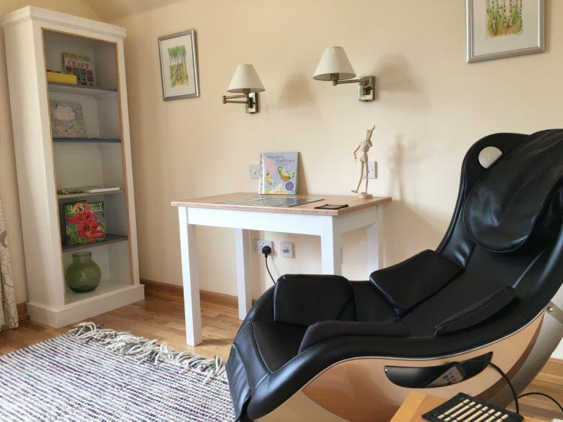 The 'magic' chair in our Relax Room