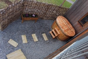 The view from above - our fabulous hot tub